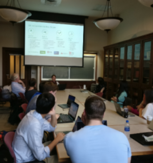 Lucie Anselin Pesch gives College students an overview of spatial analysis methods used in industry